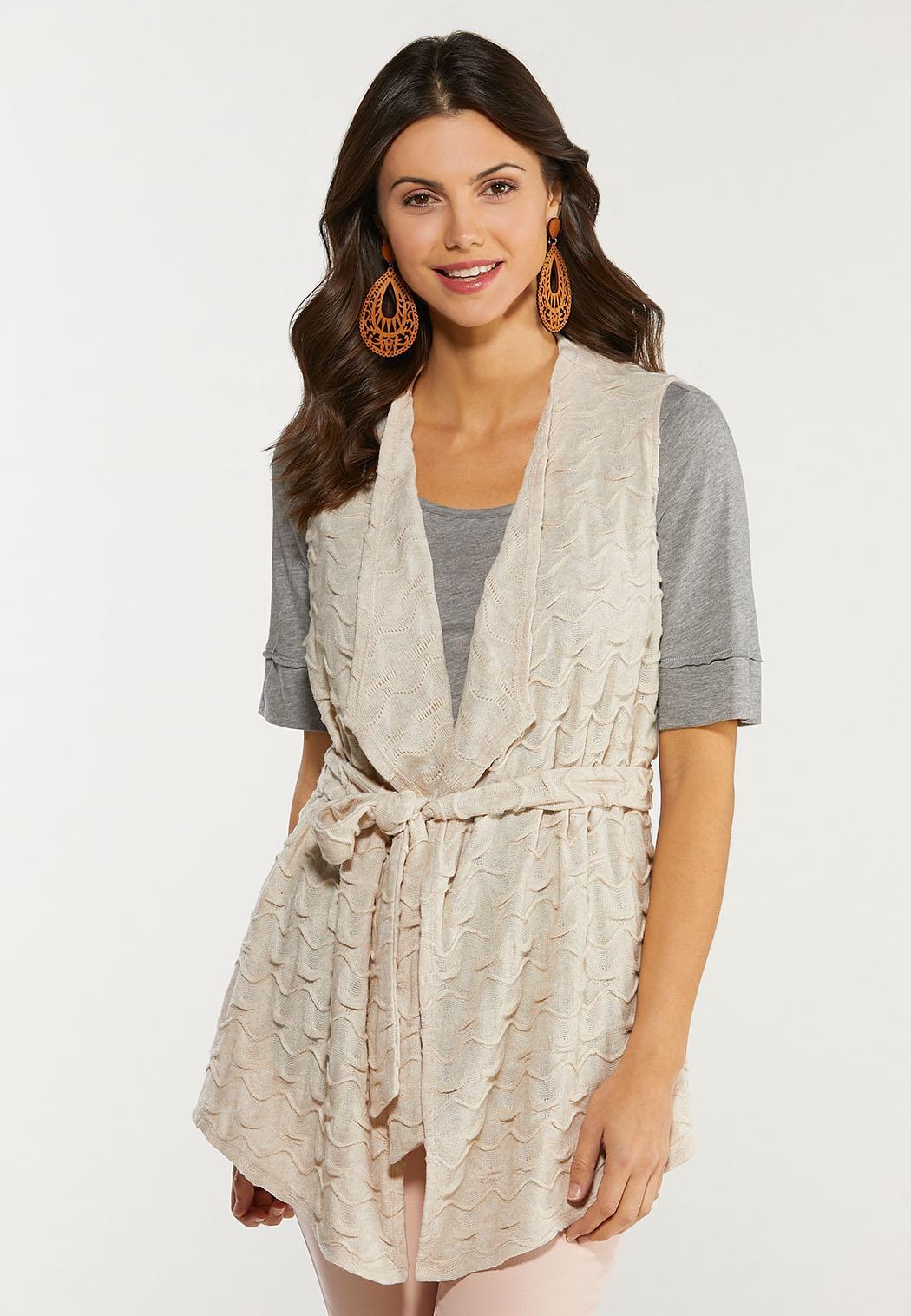 Textured Belted Vest