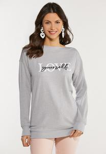 Plus Size Love Yourself Sweatshirt