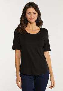 Slim Scoop Neck Tee