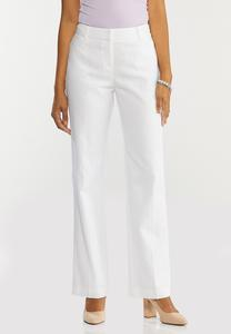 White Linen Trouser Pants