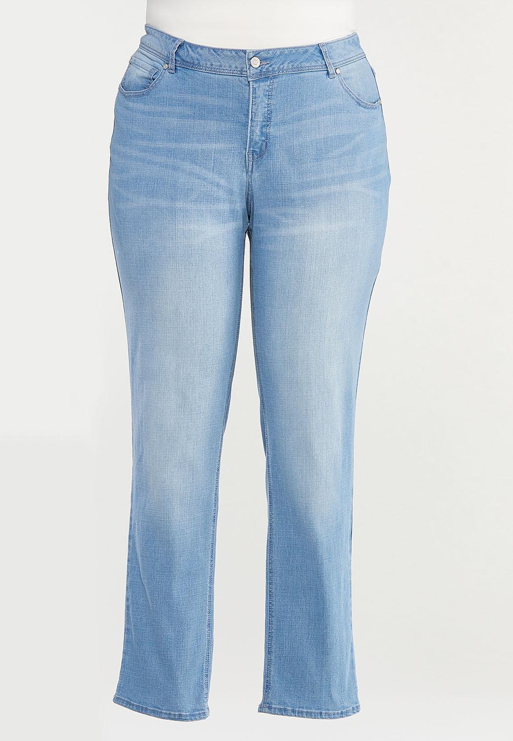 Plus Size Shape Enhancing Straight Leg Jeans