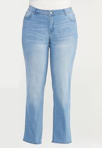 Plus Size Shape Enhancing Straight Leg Jeans