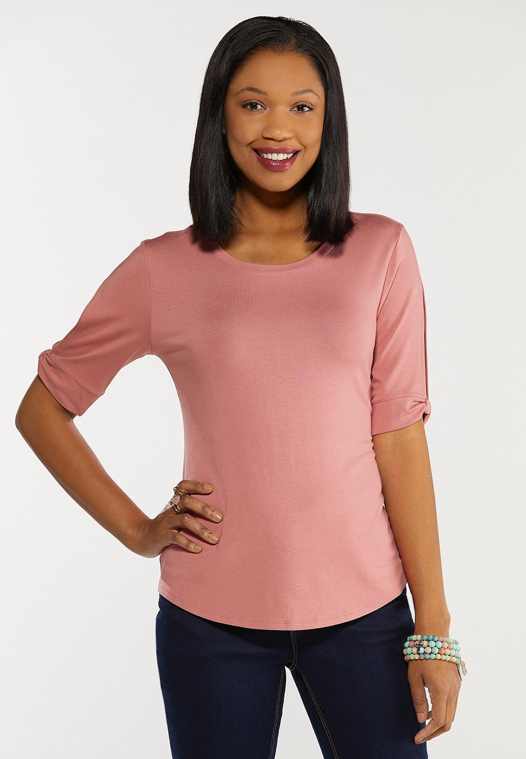 Plus Size Split Sleeve Top