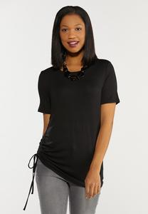 Plus Size Ruched Side Tee