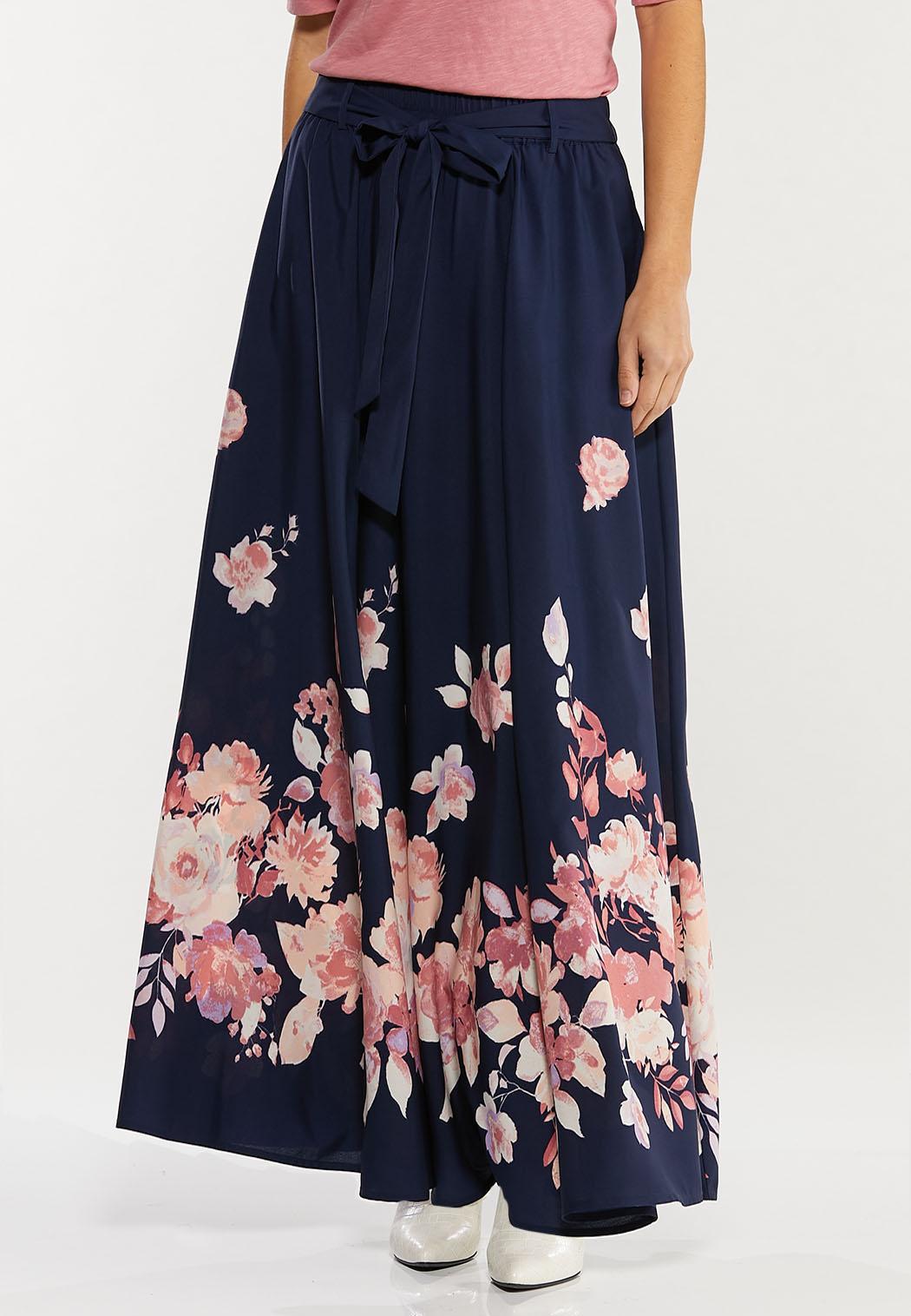 Plus Size Navy Floral Maxi Dress