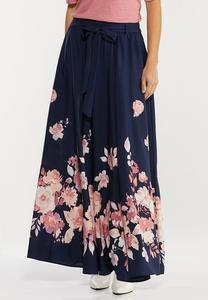 Plus Size Navy Floral Maxi Dress