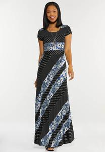 Plus Petite Mixed Print Maxi Dress