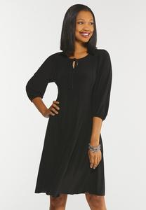 Plus Size Seamed Smock Sleeve Dress
