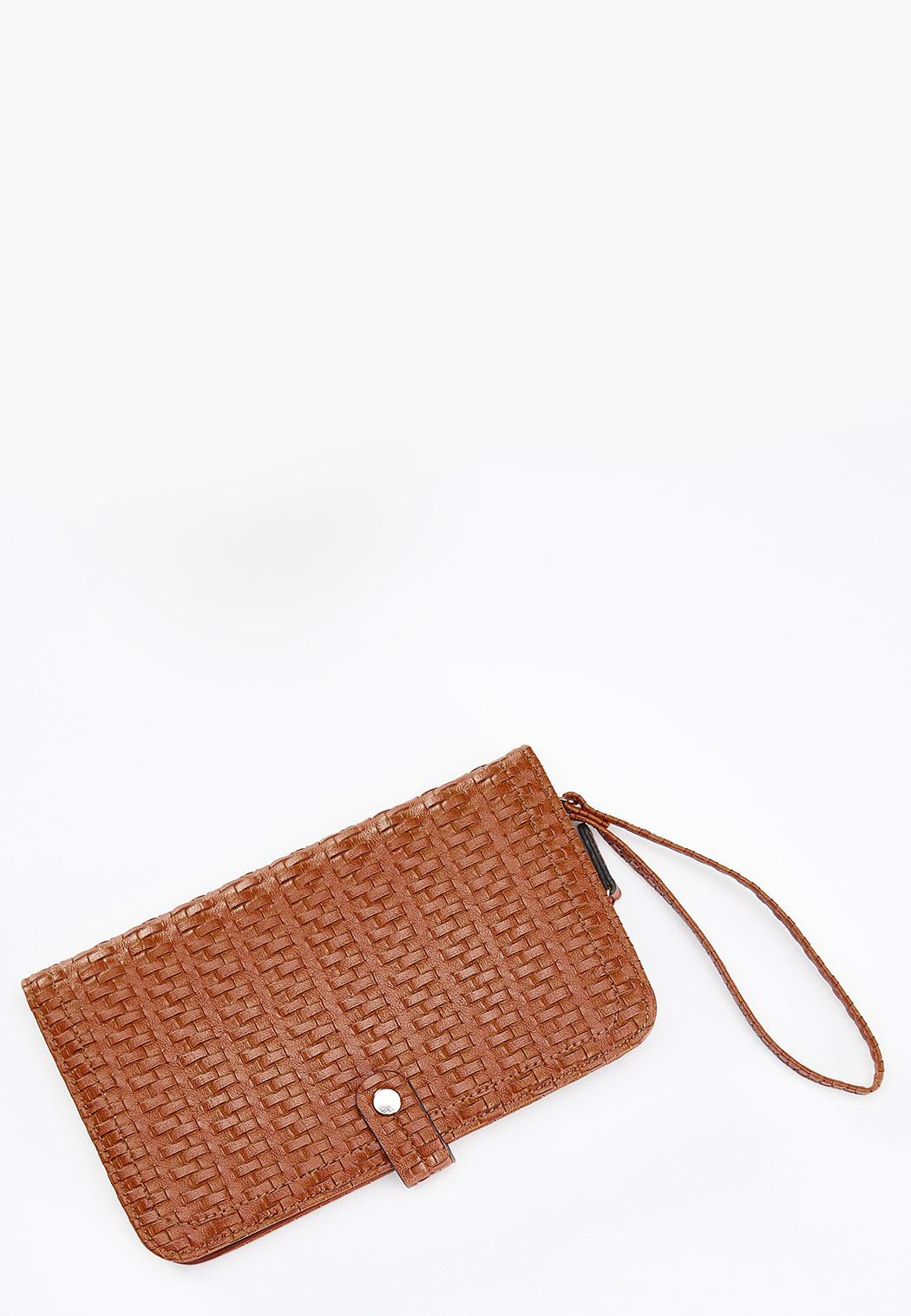 Woven Effect Wristlet Wallet
