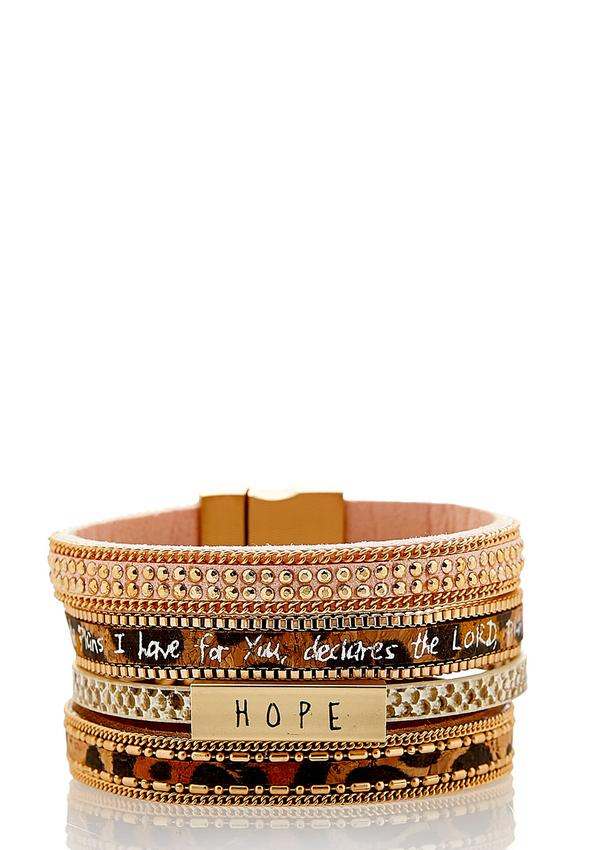 Inspirational Mix Print Bracelet