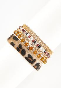 Leopard Mixed Chain Bracelet