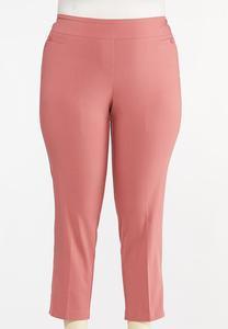 Plus Size Dusty Rose Bengaline Pants