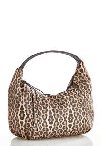 Leopard Hobo Handbag