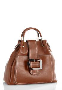 Tort Buckle And Strap Satchel