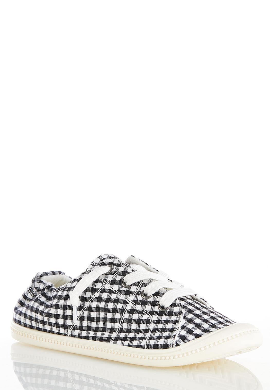 Gingham Scrunch Sneakers