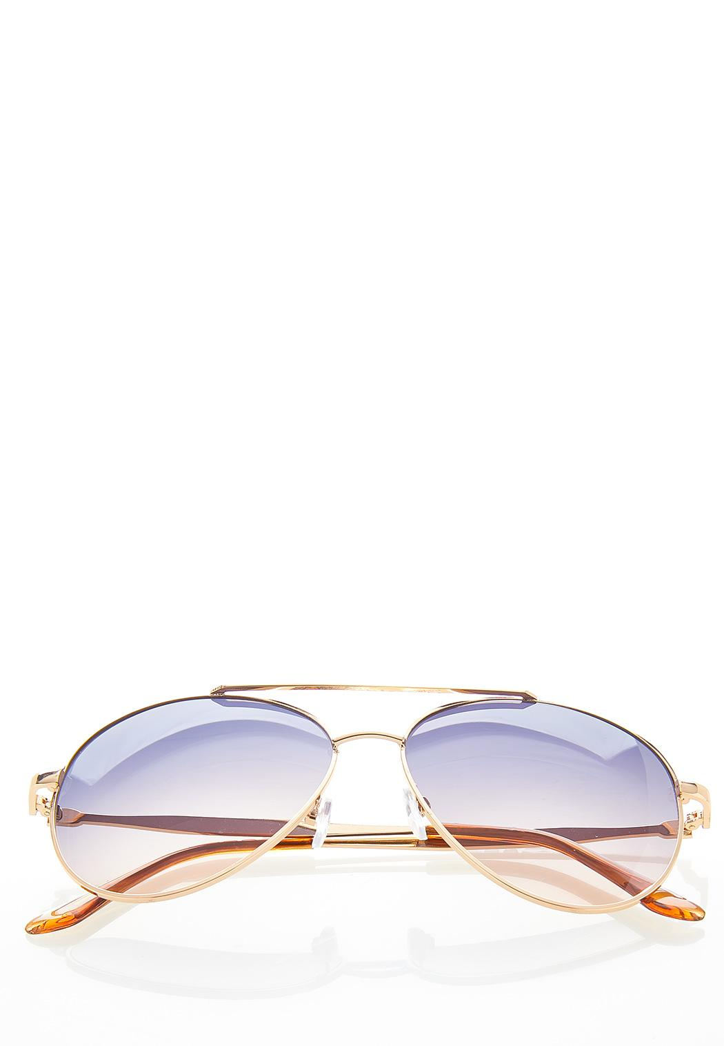 Bling Arm Aviator Sunglasses