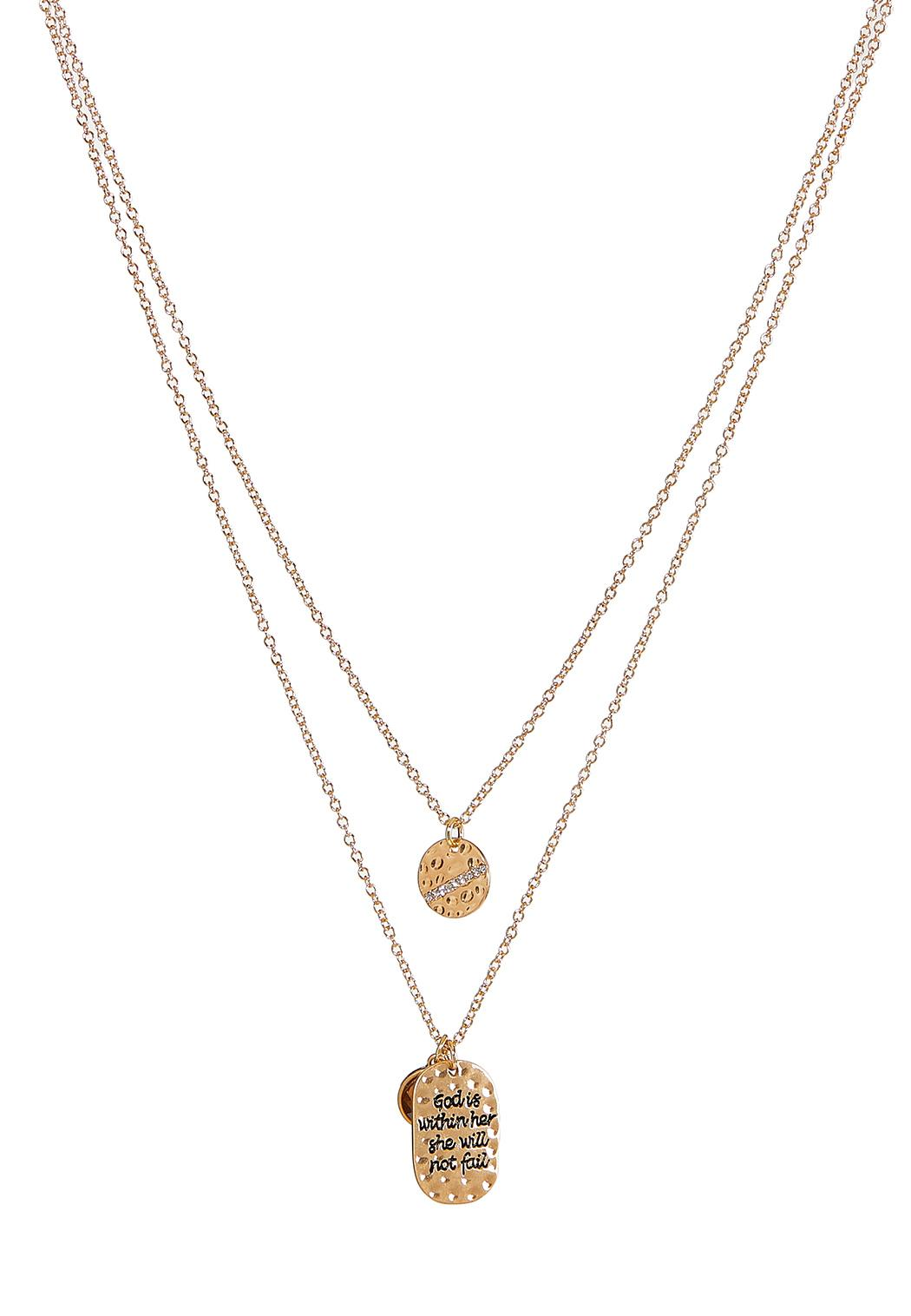 God Is Within Her Charm Necklace