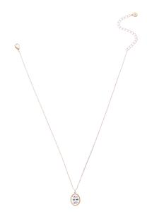 Halo Stone Pendant Necklace