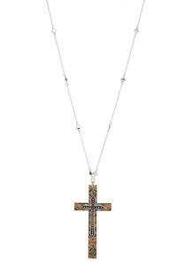 Cork Cross Pendant Necklace