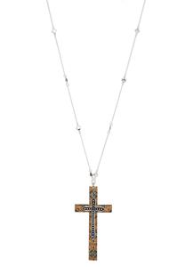 Cork Cross Pendant Necklace