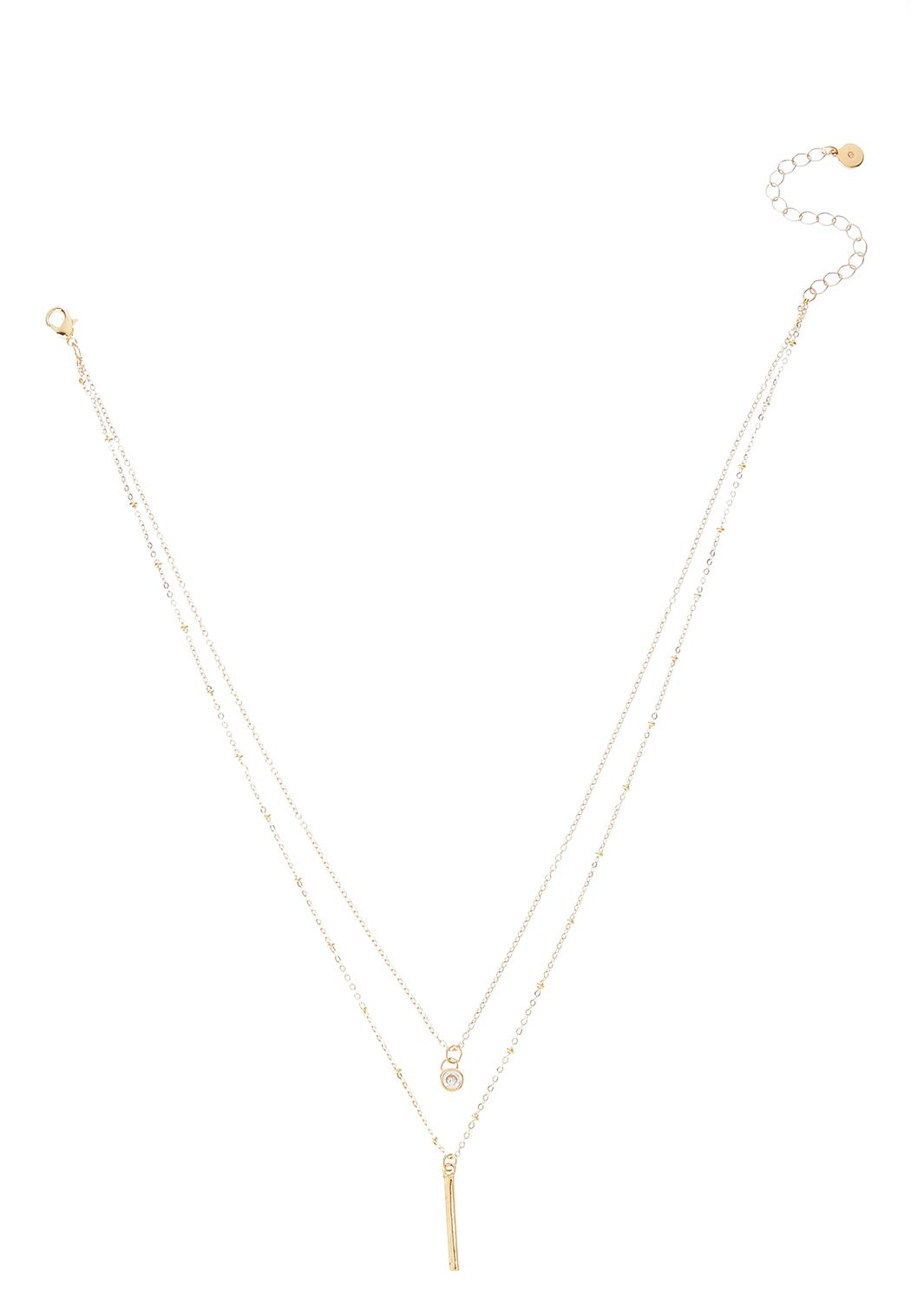 Delicate Layered Bar Necklace