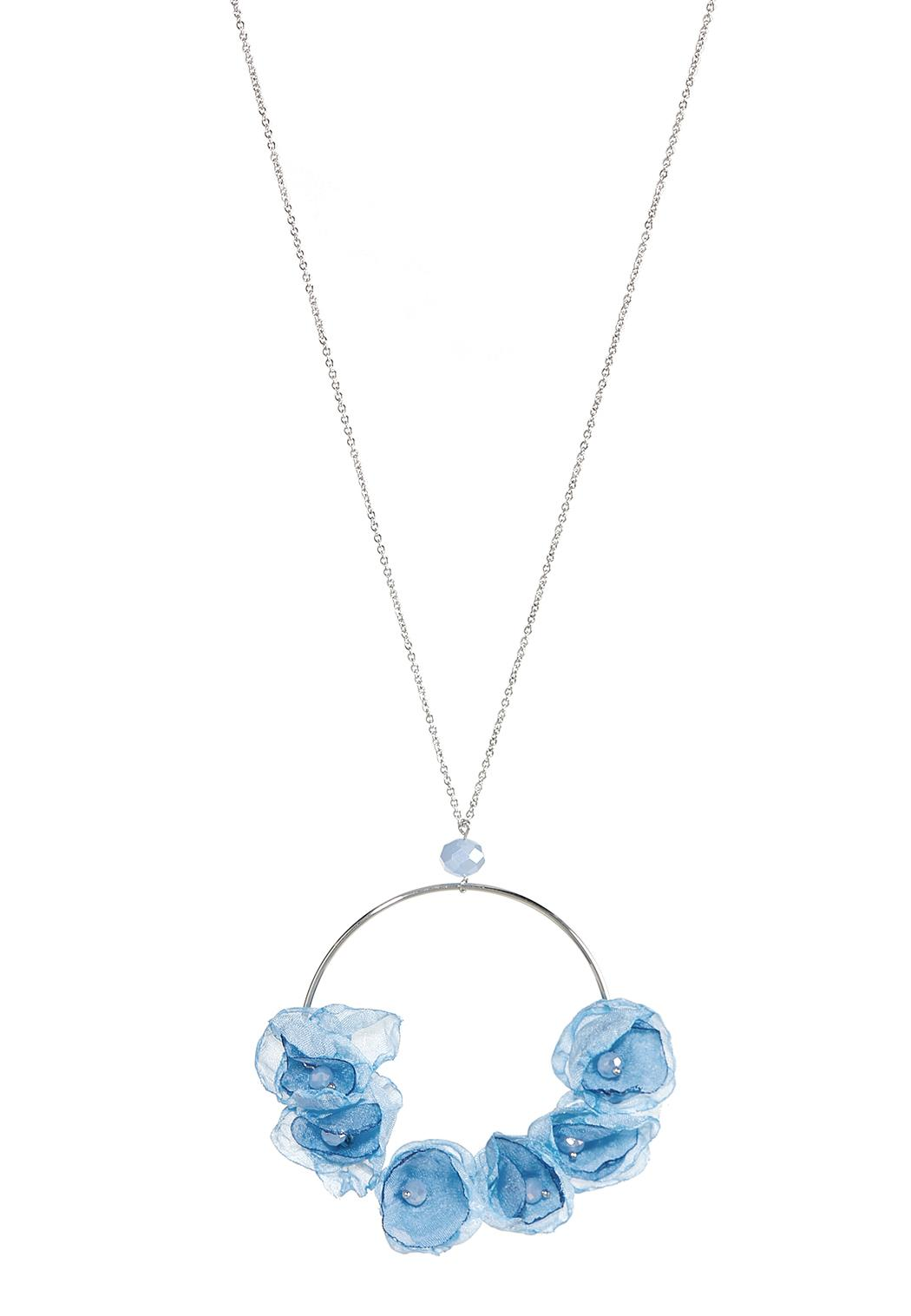 Chiffon Petal Pendant Necklace