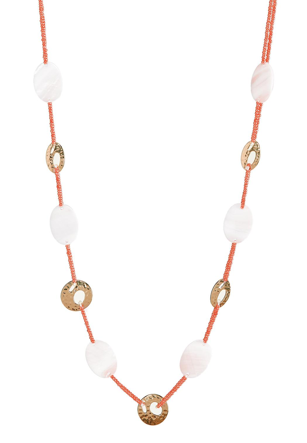 Shell Seed Cord Necklace
