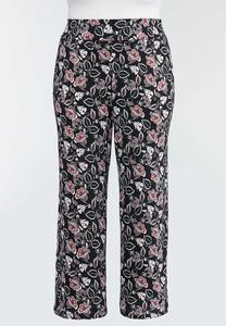 Plus Petite Fun Floral Wide Leg Pants