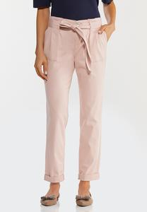 Rosey Tie Waist Ankle Pants