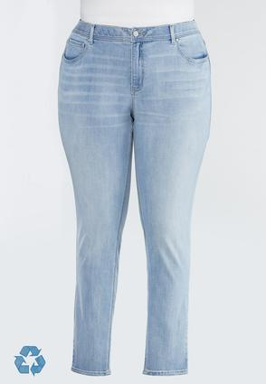 Plus Size Lightwash Skinny Jeans