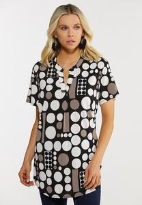 Plus Size Modern Dot Top