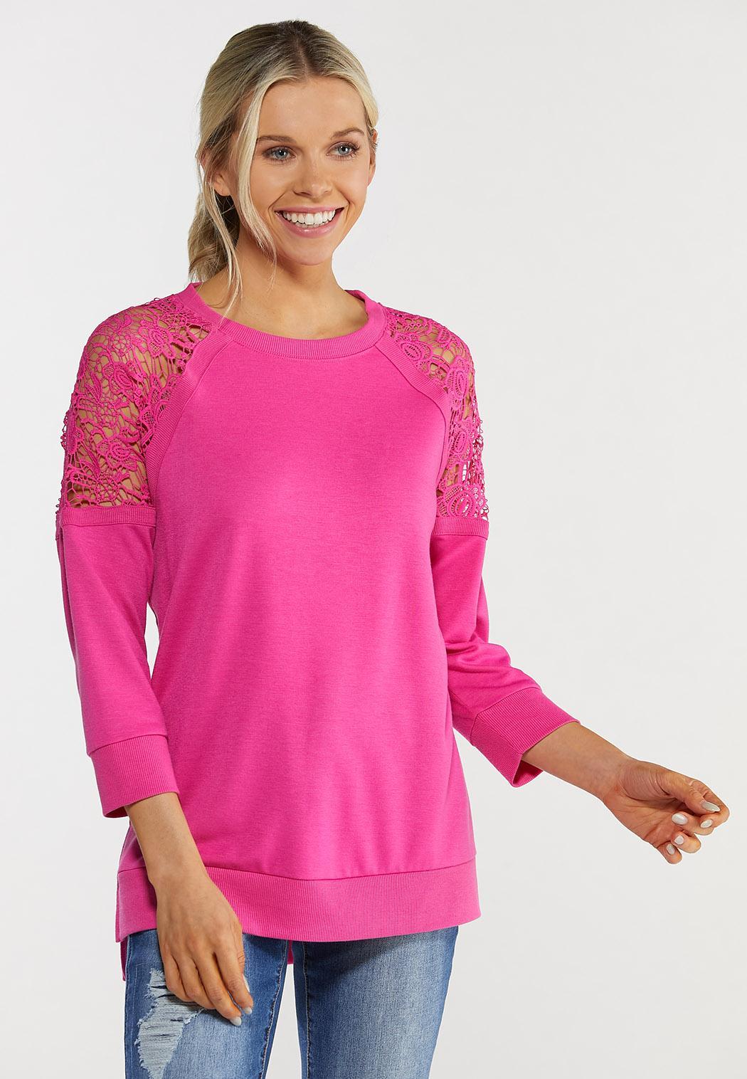Crochet Sleeve Sweatshirt