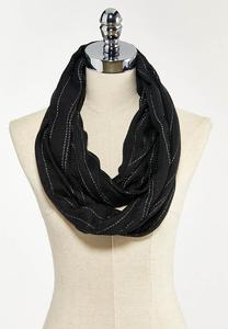 Metallic Thread Infinity Scarf