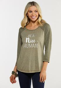 Plus Size Be A Nice Human Tee