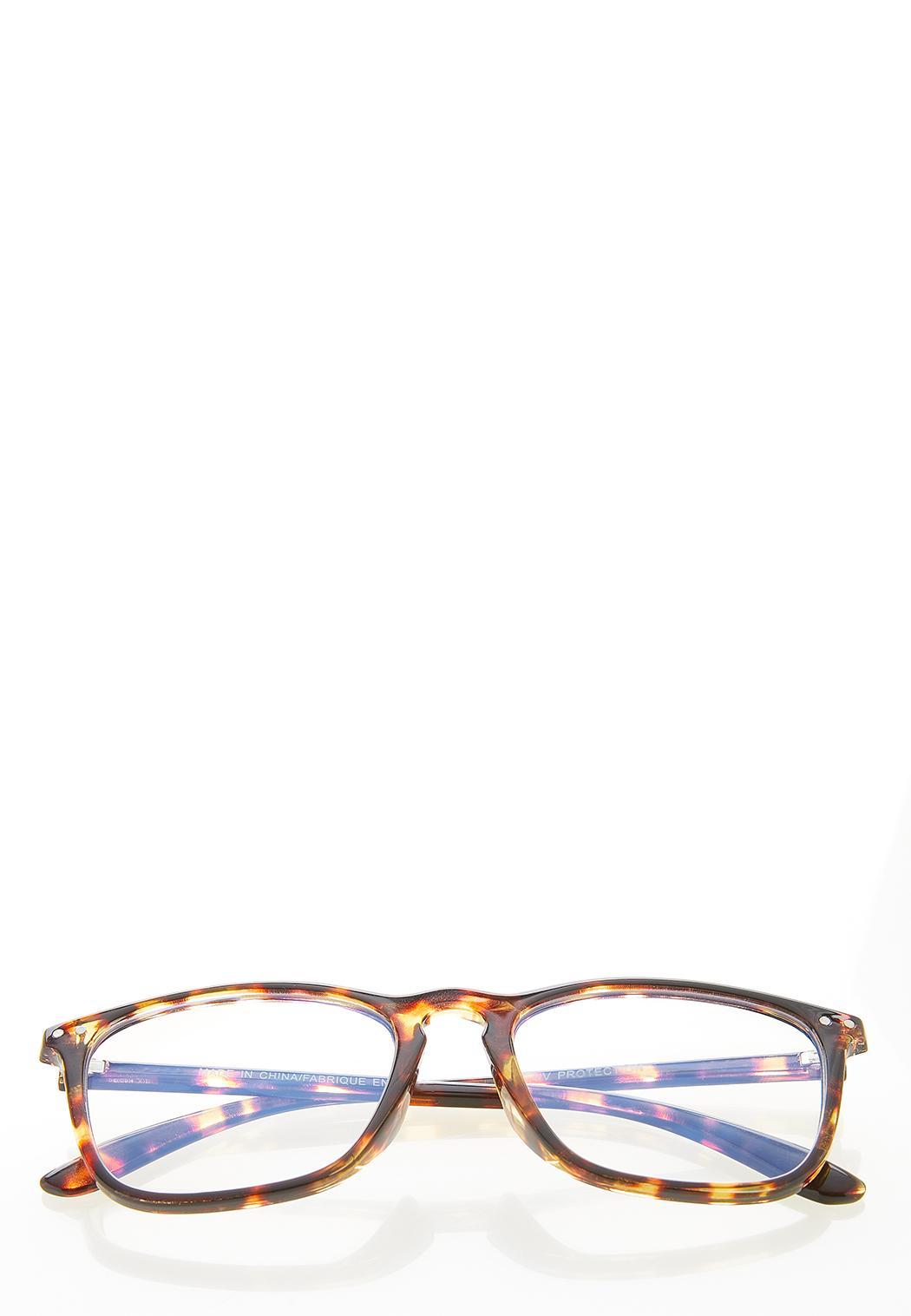 Square Tortoise Blue Light Glasses