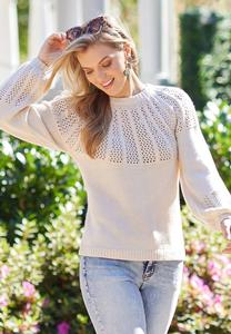 Plus Size Oatmeal Mixed Stitch Sweater