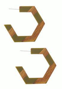 Polygon Hoop Earrings