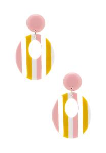 Lucite Stripe Cutout Earrings