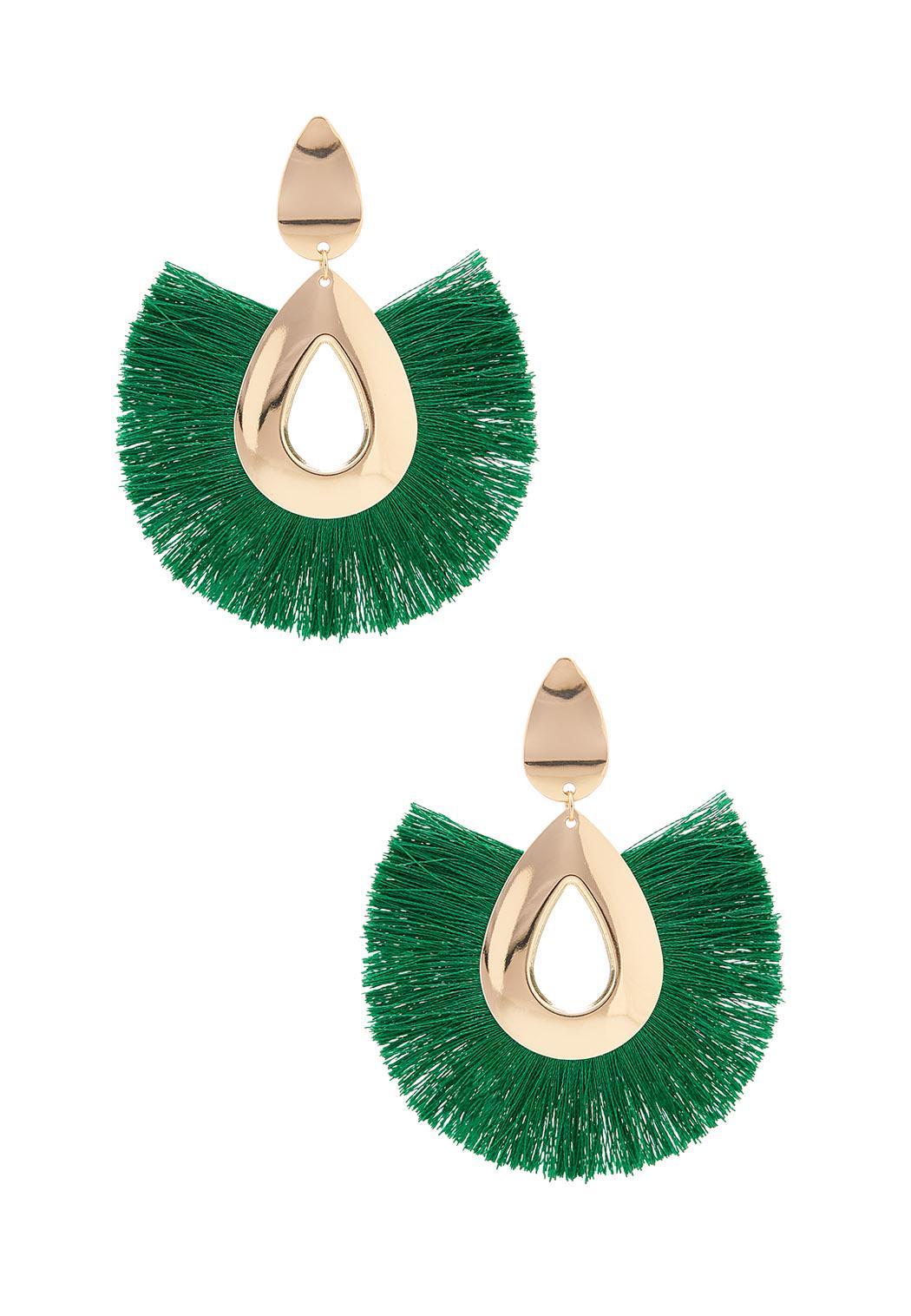 Lime Zest Fringe Earrings