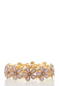 Flower Stone Stretch Bracelet