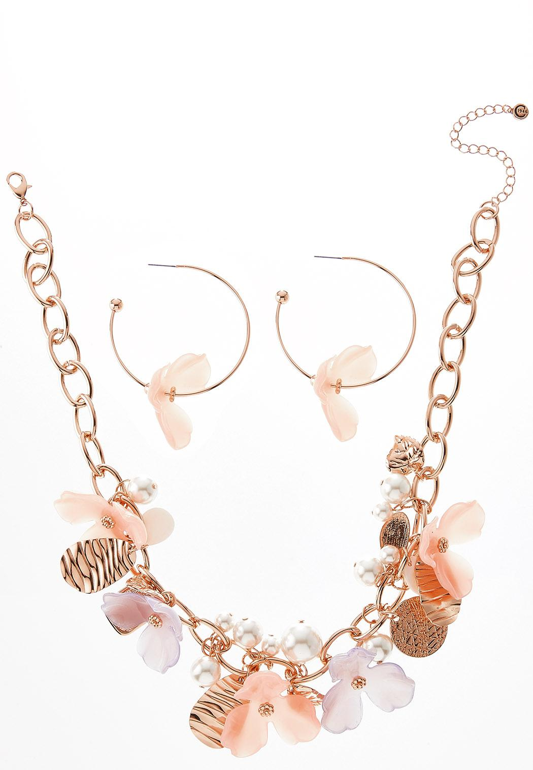 Multi Charm Link Necklace Set