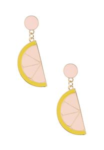 Enamel Lemon Earrings