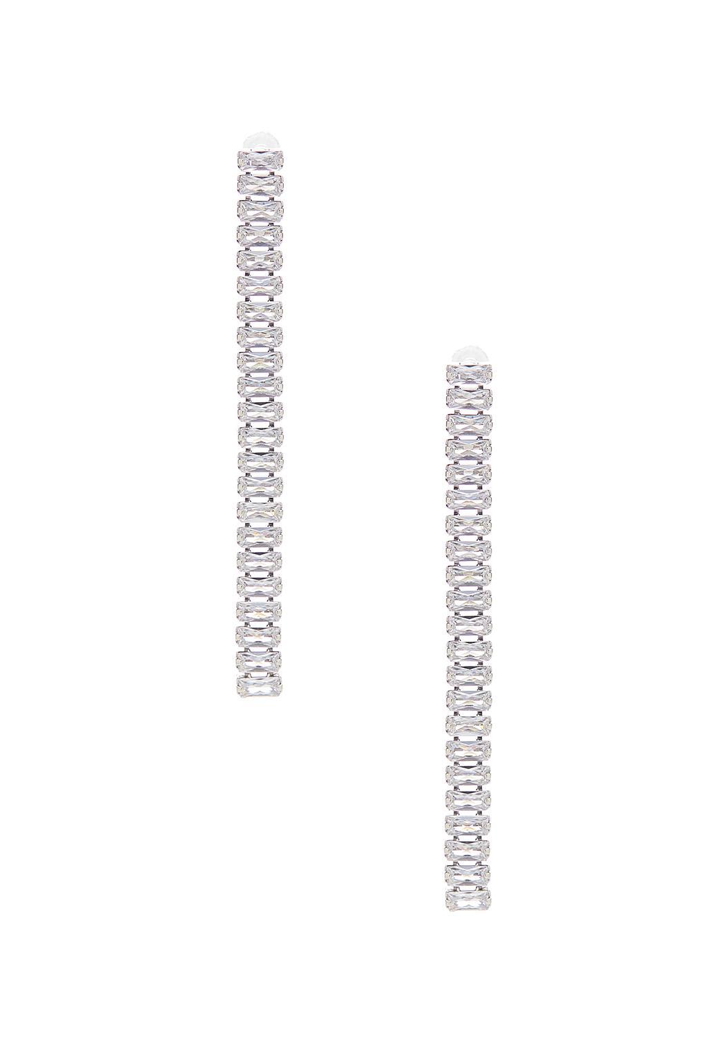 Linear Cubic Zirconia Earrings