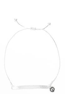 Hammered Bar Adjustable Bracelet