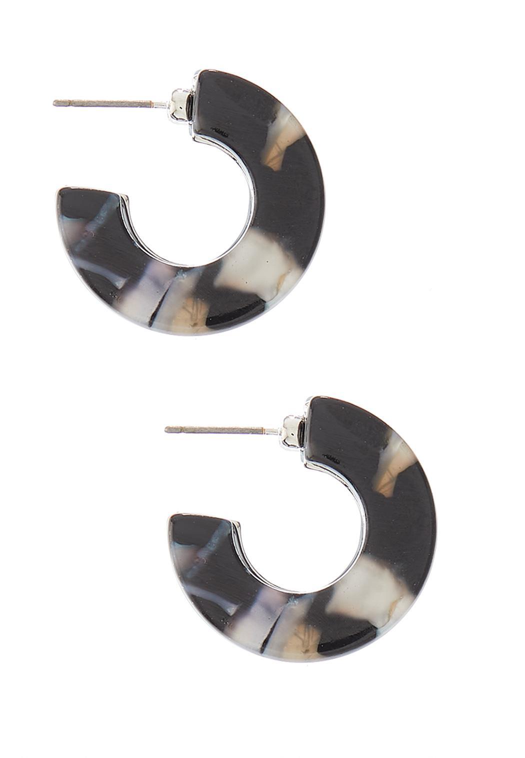 Small Lucite Hoop Earrings