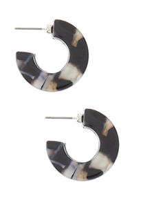 Small Lucite Hoop Earrings