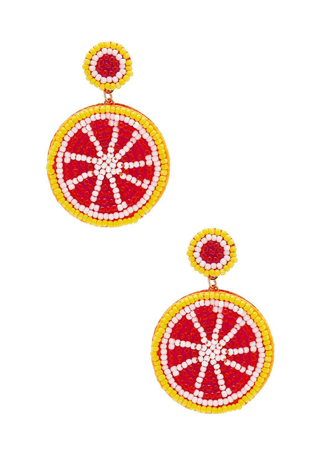 Grapefruit Seed Bead Earrings