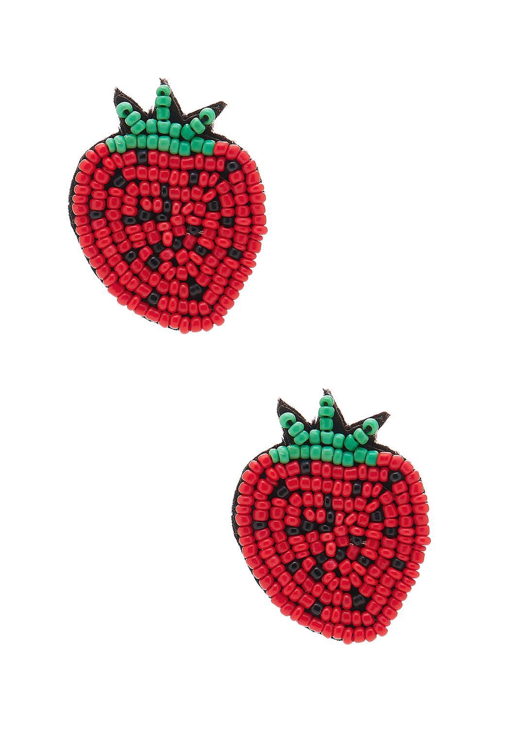 Strawberry Seed Bead Earrings
