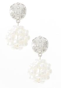 Filigree Pearl Cluster Earrings