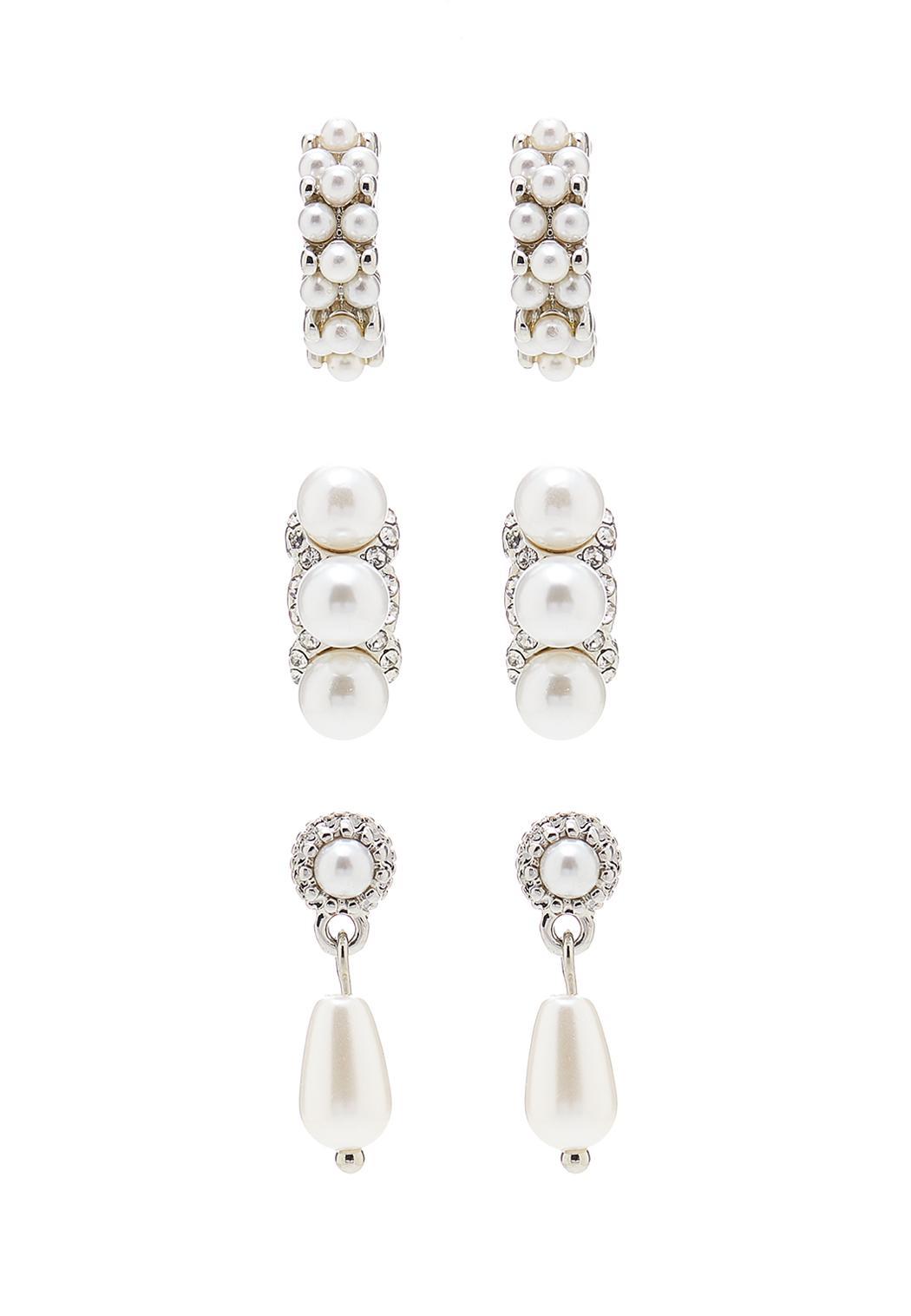 Mixed Pearl Earring Set